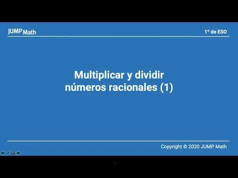 1. Unidad 9. Multiplicar y dividir números racionales I