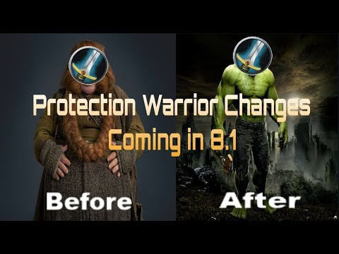 BFA 8 1  PROT WARRIOR CHANGES BUFFS NEW MASTERY