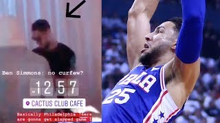 Well if you didn't believe it before, i may have some proof for now. philadelphia 76ers pg ben simmons was spotted partying late in toronto the night bef...