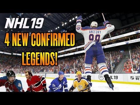 NHL 19 News | 4 NEW LEGENDS CONFIRMED!!!