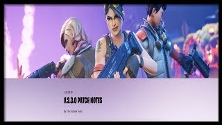 Notes de patch Fortnite 2.3.0