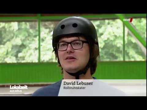 WDR Lokalzeit - David Lebuser (Wheelchairskater, WCMX) testet den Hebelrollstuhl radius