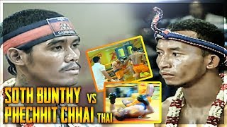 សូត្រ ប៊ុនធី Soth Bunthy Vs (Thai) Phechhit Chhai , SeaTV Boxing, 19/August/2018