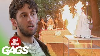 Wedding Disaster Pranks   Best Of Just For Laughs Gags