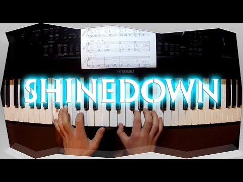 ShineDown - Get Up (Piano Cover / Tutorial / Chords - Sheet Music)