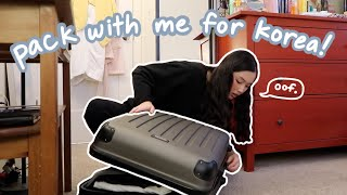 pack with me for korea! + a day in my life vlog
