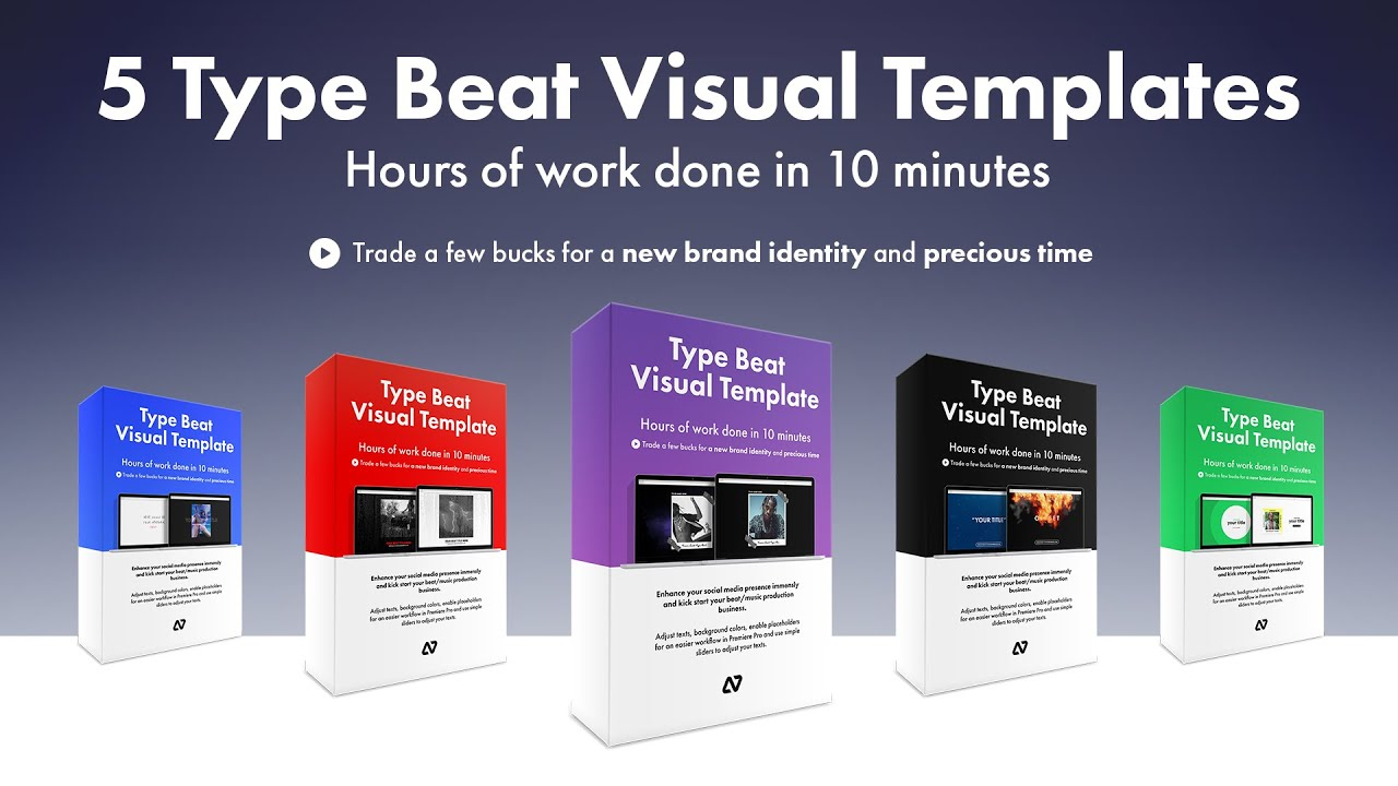 4 + 1 FREE Type Beat Visual Templates (animated/customizable) for Premiere  Pro CC (2019)