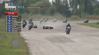 АВАРИЯ!!! 4-й этап мотогонок UASBK / The crash on the motoracing UASBK