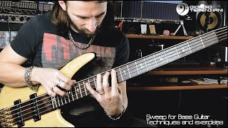 How to Sweep on Bass Guitar // Bass Lesson // Analysis, Techniques // Fingers, Thumb. Nail
