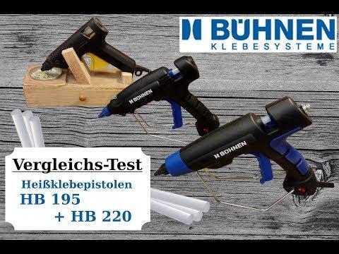 Heißklebepistolen-VergleichsTest/Bühnen HB 195 und HB 220