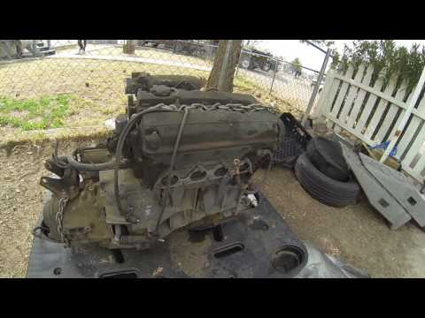 Separating a JDM B16A from a GSR transmission.