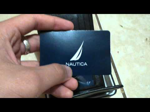 nautica trifold heritage wallet bought in marshalls [unboxing / review]