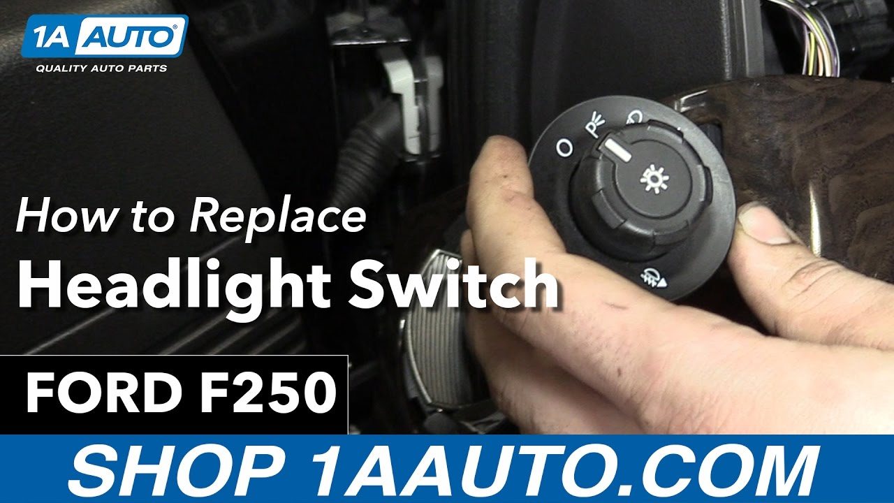 2015 F650 Wiring Diagram Ez Go Gas Golf Cart How To Replace Headlight Switch 2013 Ford F250 Youtube