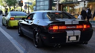 Dodge Challenger SRT8 w/ Custom exhaust - LOUD REVS & BURNOUT!!!
