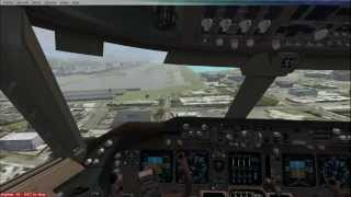 FSX Best Crosswind and Difficult Visual Approach Keyboard and Mouse Control Landings