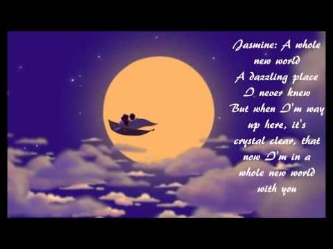 A Whole New World by Brad Kane and Lea Salonga (w/ lyrics) From Disney's