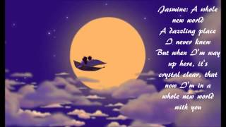 A Whole New World by Brad Kane and Lea Salonga (w/ lyrics) From Disney