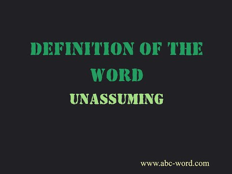"""Definition of the word """"Unassuming"""""""