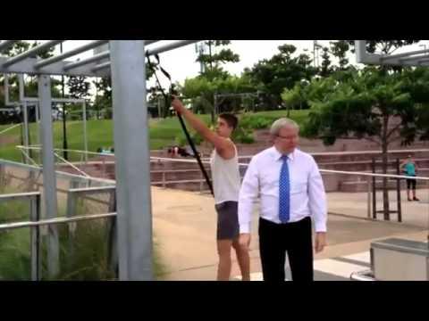 Man of steel - Kevin Rudd chin ups fail!