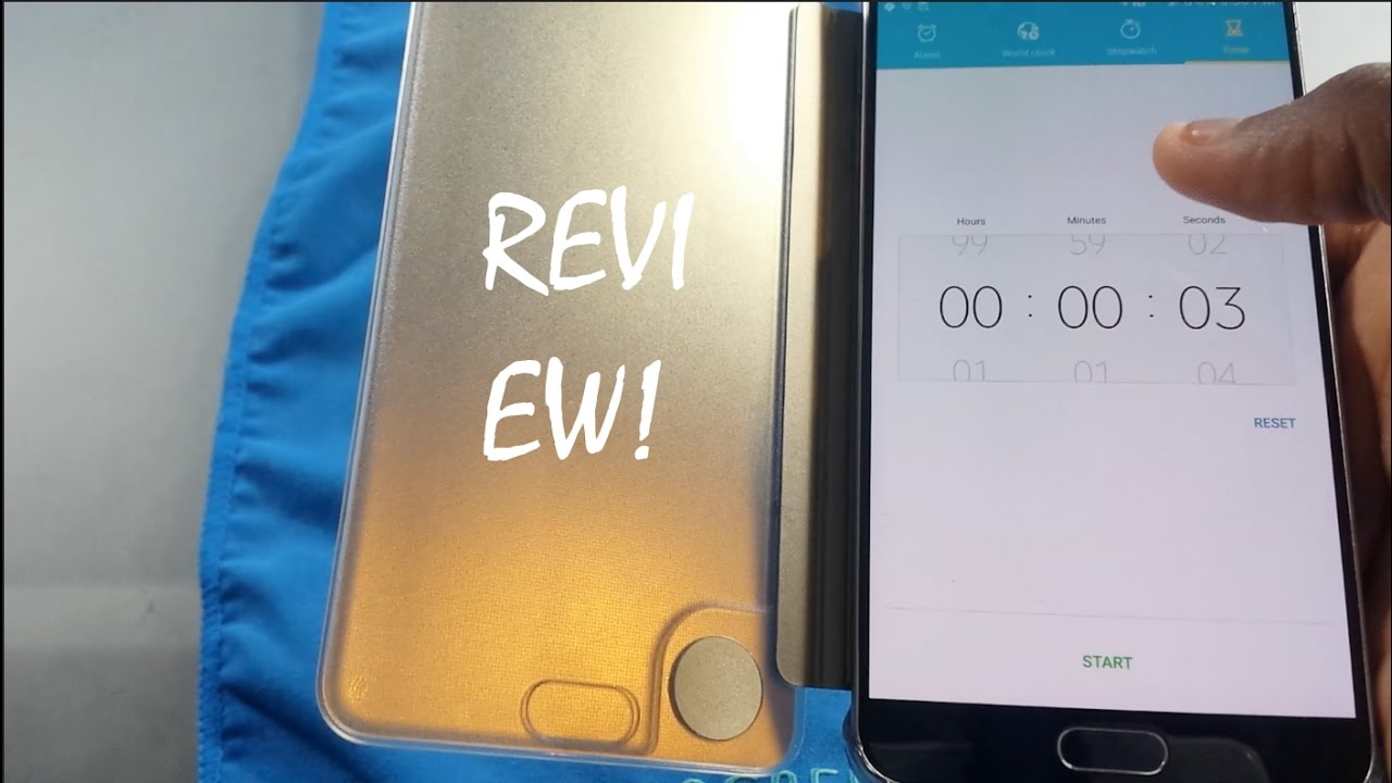 brand new 2c0ee e5998 Samsung Galaxy Note5 S View Clear Flip Cover - Review!