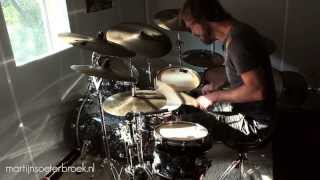 "Extensive Drum Solo ""Until The End"" with 2 over 3 foot ostinato & modulations"