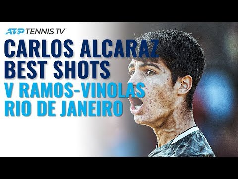16-year-old Carlos Alcaraz Best Shots In First ATP Win   Rio 2020