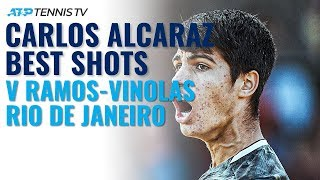 16-year-old Carlos Alcaraz Best Shots in First ATP Win | Rio 2020