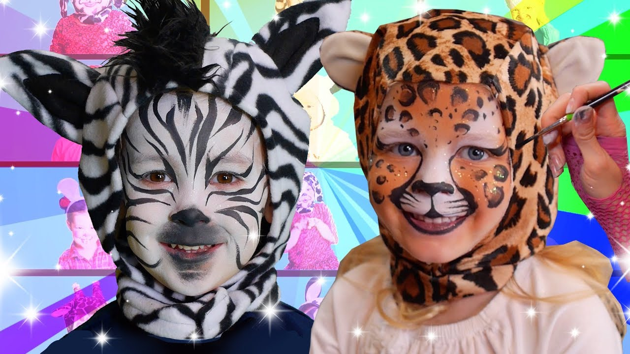 Zoo Animals Face Paint | We Love Face Paint - YouTube