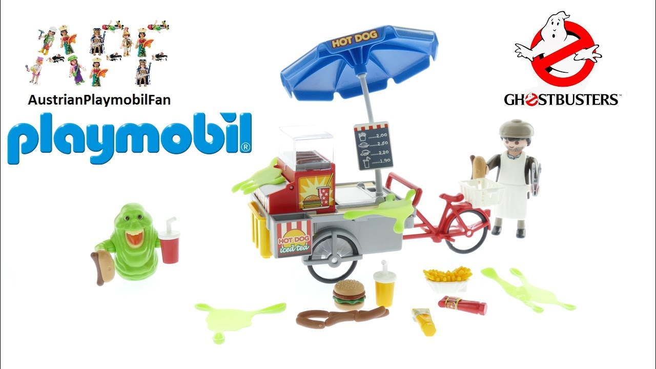 Playmobil Ghostbusters 9222 Slimer mit Hot Dog Stand - Playmobil ...