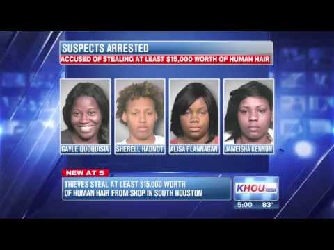 4 Women Get Arrested FOR STEALING $15K WORTH OF FAKE HAIR FROM A BEAUTY SUPPLY STORE!!!!
