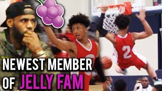 LEBRON Watches NEWEST JELLYFAM Member Mikey Williams!! #1 8th GRADER In The COUNTRY!! HS Highlights