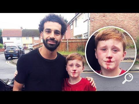 M.Salah'ın Arabasını Kovalarken Düşüp Yaralanan Çocuğa Güzel Jest...