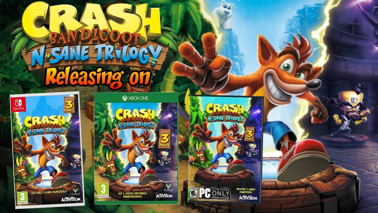 Crash Bandicoot N  Sane Trilogy Coming to Xbox One, Nintendo Switch and PC
