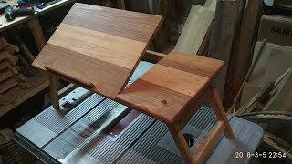 очень удобный столик для ноутбука СВОИМИ РУКАМИ!!!  ЧЕРТЁЖ(в описании)