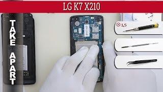 how to disassemble  LG K7 X210 Take apart Tutorial