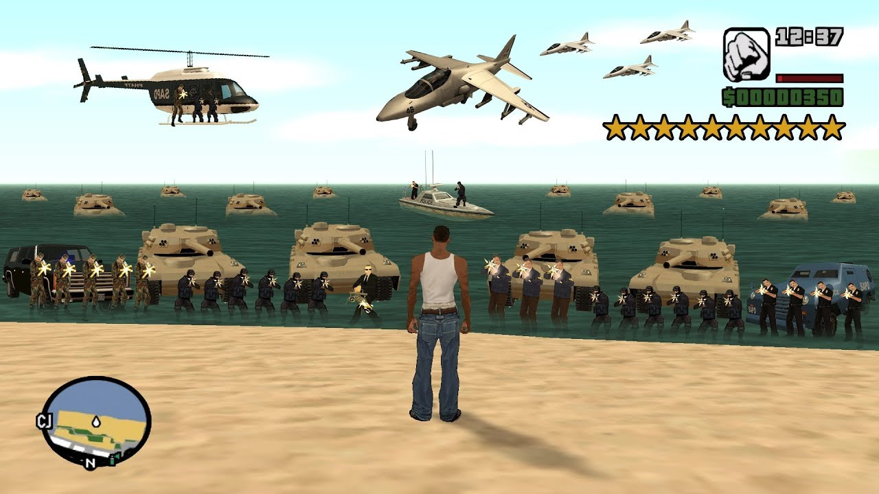 What Happens If You Get 10 Stars in GTA San Andreas? (Secret Cheat Code) thumbnail