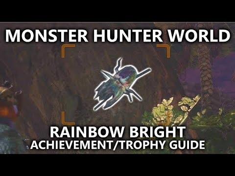 Monster Hunter World - Rainbow Bright Achievement/Trophy Guide (Prism Hercudrome - Rare Beetle)