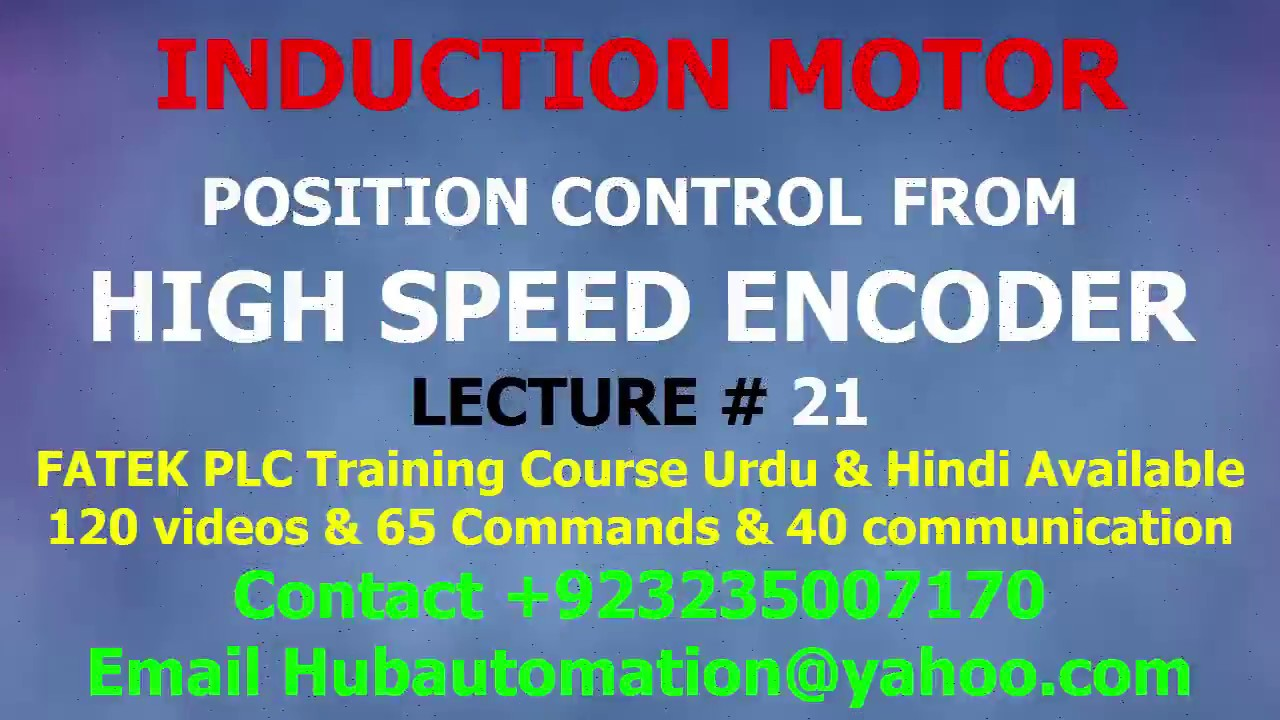how to control motor speed & position control from high speed Up and ...