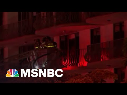 Rescuers Search For Survivors After Florida Apartment Building Collapses