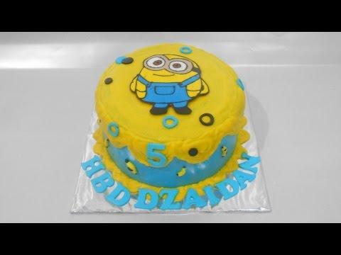 Minion Cake Tutorial Easy Youtube