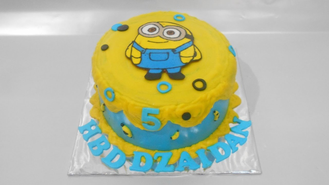 Birthday Cake Images Minions ~ Minion cake tutorial easy youtube