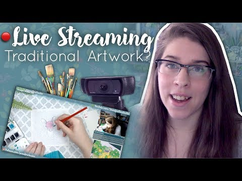 How To Live Stream Traditional Art // On Instagram, Twitch, YouTube, And More!