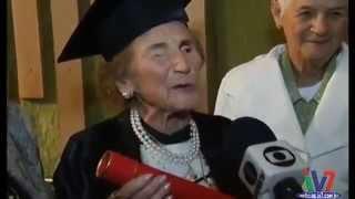 Mulher de 97 Anos se forma em Direito em Minas Gerais