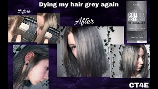 Dying my hair graphite grey colour freedom| CT4E