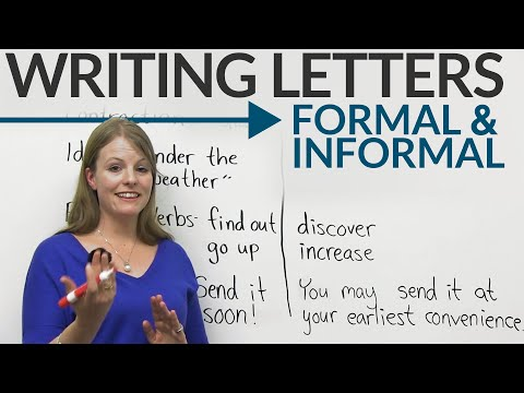 Writing Letters: Formal & Informal English