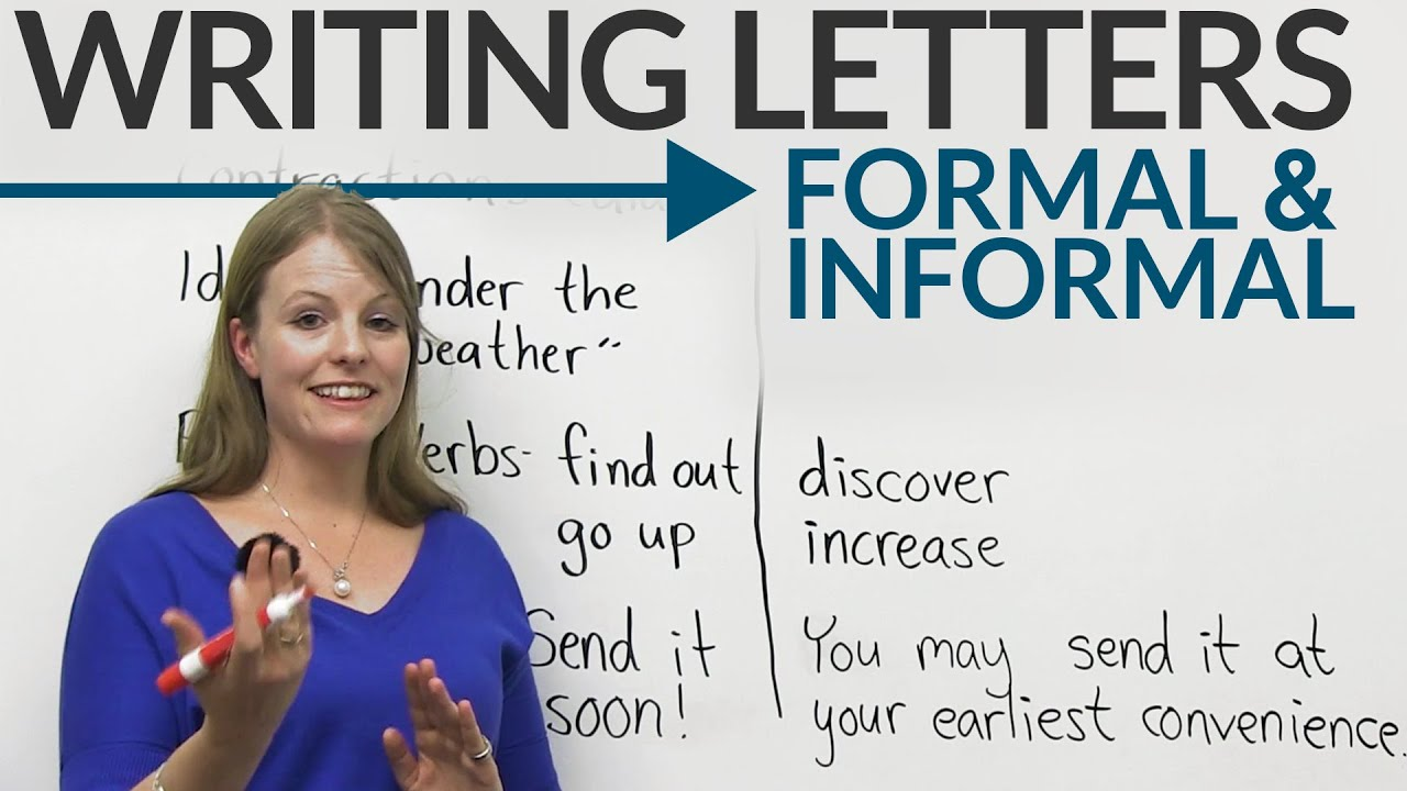 Writing Letters Formal Informal English Youtube
