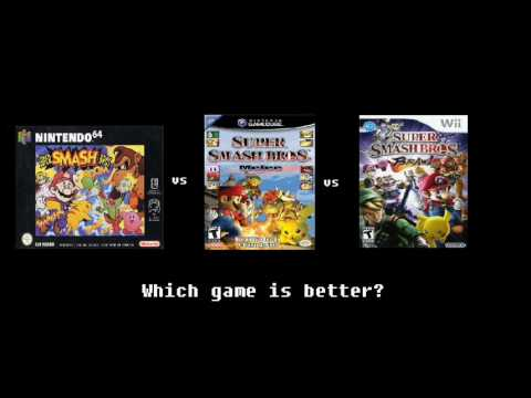 Super Smash Bros Vs Super Smash Bros Melee Vs Super