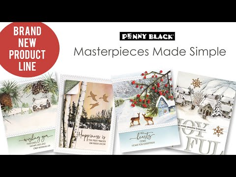 Masterpieces Made Simple from Penny Black