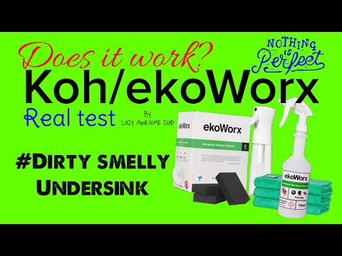 Does KOH / EkoWorx work or a SCAM? I put it to the test - Dirty smelly undersink rubbish bin area