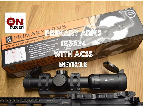 Primary Arms 1x6 Gen 3, with the ACSS Reticle